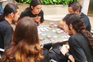 Jogos de RPG no pátio da UVA (Sandro Miranda)