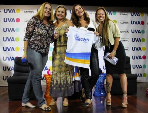 Martha Esteves, Aline Bordalo, Renata Cordeiro e Carla Matera reunidas