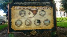 Placa sobre o arquipélago Florida Keys