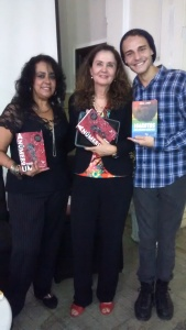 Escritora Raquel, Prof. Marilene e Escritor Enrique