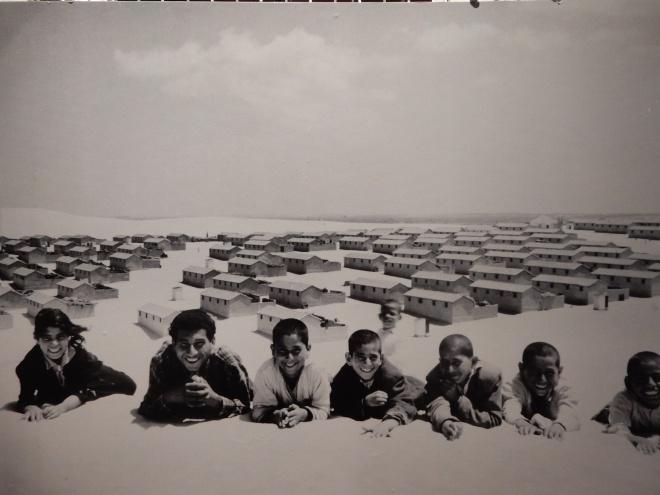 Crianças no campo de Gaza