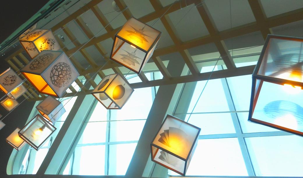 Luminária feita pelos visitantes
