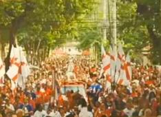 Imagens São Jorge, roda de samba e procissão