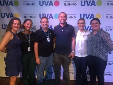 Sabrina Ferreira, Tirle Cruz, Marco Aurélio, Mariana Alcantara e Bruna Lombardo