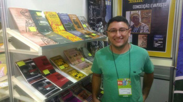 Francisco Jorge, da editora Malê. Foto: Carolina Ewald / AgênciaUVA