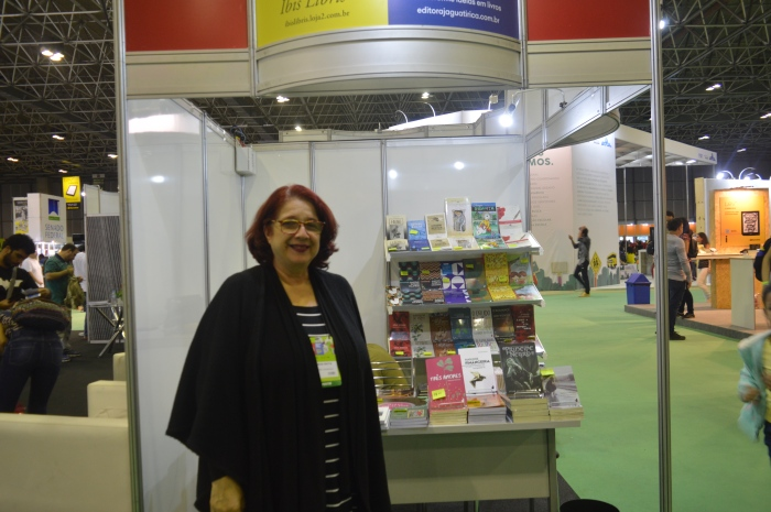 Thereza Christina Motta, da Ibis Libris. Foto: Andreia Dantas / AgênciaUVA