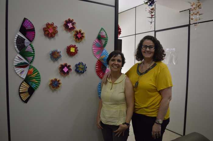 As psicólogas Maria Alice Tourinho e Virgínia Maffioletti, do CDA. [Foto: Camila Porto]