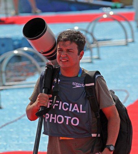 O fotógrafo esportivo Satiro Sodré. Foto: divulgação