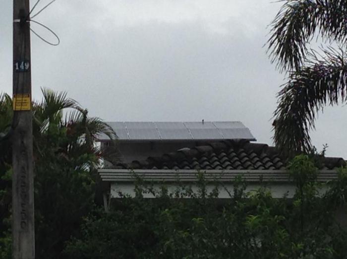 Instalação solar residencial em Vinhedo, no Estado de São Paulo.Foto cedida por Diógenes Neto