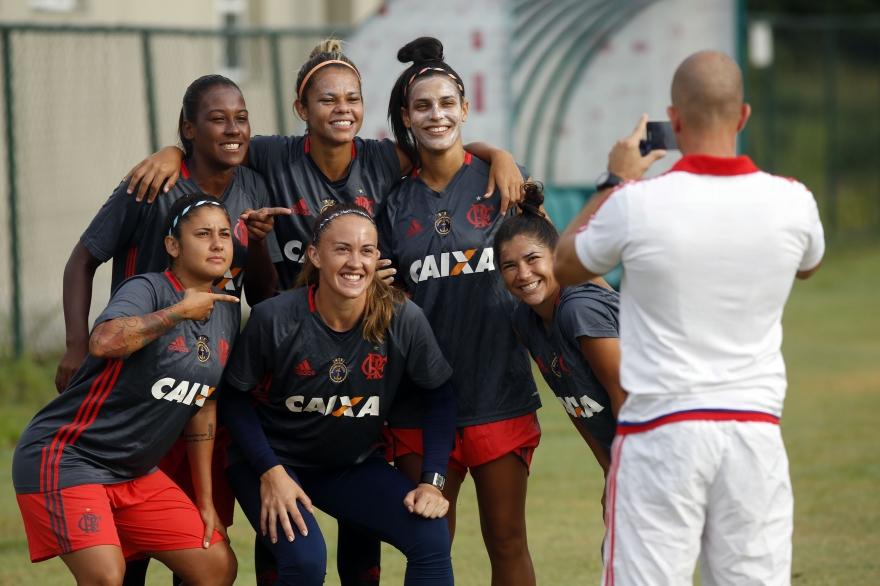 Time de futebol feminino do Flamengo. Foto: Divulgação Flamengo