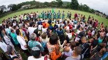 Cerca de 250 jovens entre 10 e 17 anos tentam a sorte de integrar as divisões de base do Fluminense. Apenas 40 deles são selecionados pelo grupo de captação. Foto: Divulgação / Fluminense