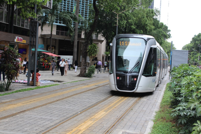 Veículo leve sobre trilhos no Centro do Rio - VLT Carioca.Francisco V. Santos / AgênciaUVA