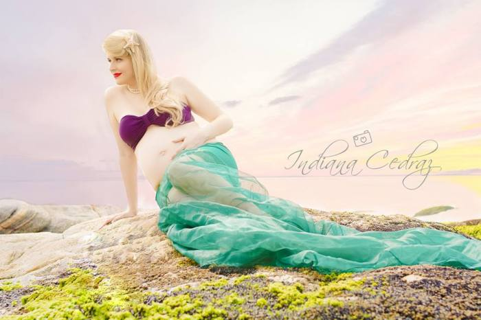 Marianna Lischt com fantasia da princesa favorita, a sereia Ariel. Foto: Indiana Cedraz
