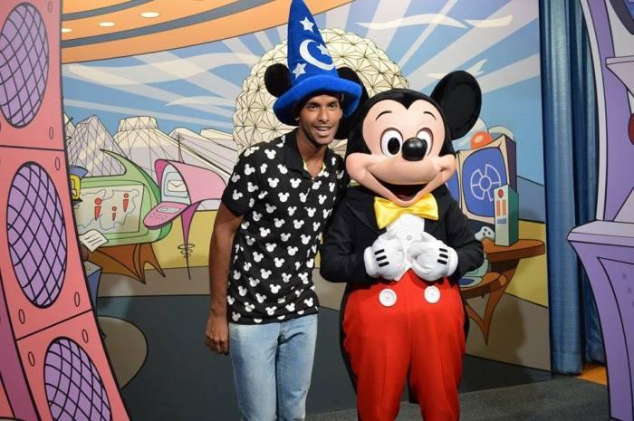 Diego na primeira viagem da Disney, em 2014Foto: Arquivo pessoal