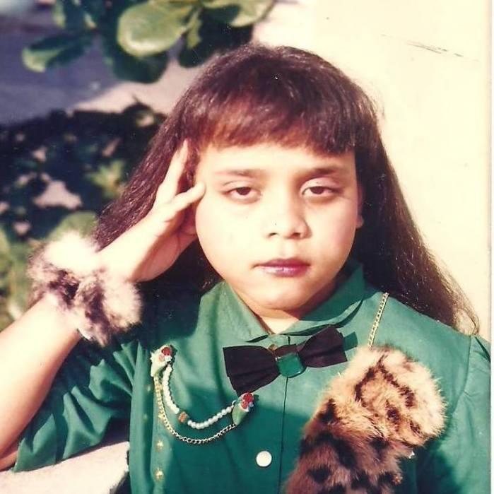 Rosa quando criança na década de 80.Foto: Arquivo pessoal
