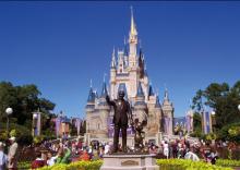 O castelo da Cinderela que representa o parque da Disney em Orlando.Foto: Dicas da Flórida