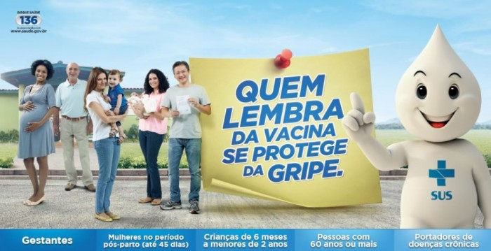 20ª Campanha Nacional de Vacinação contra a Influenza. Foto: Divulgação