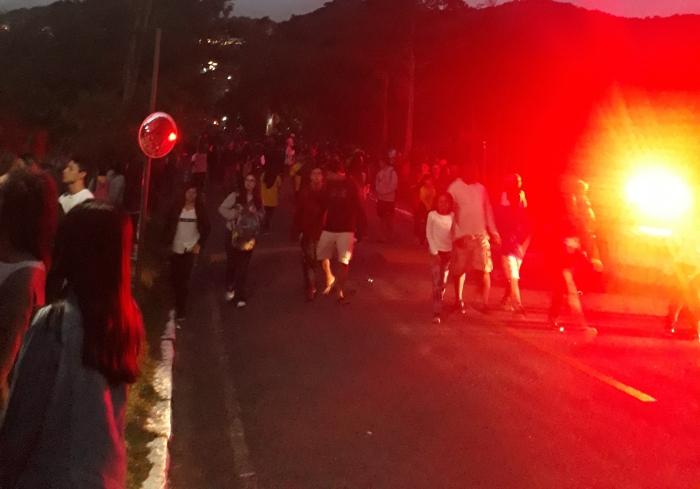 Policiamento em torno da Granja Comary. Foto:Kim Oliveira / AgênciaUVA