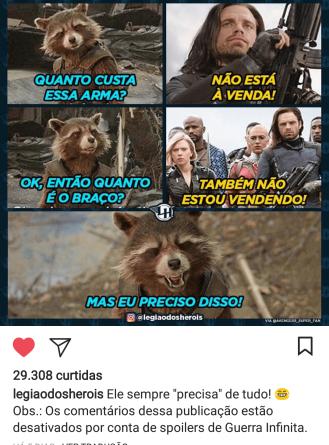Foto: Reprodução / Instagram Legião dos Heróis