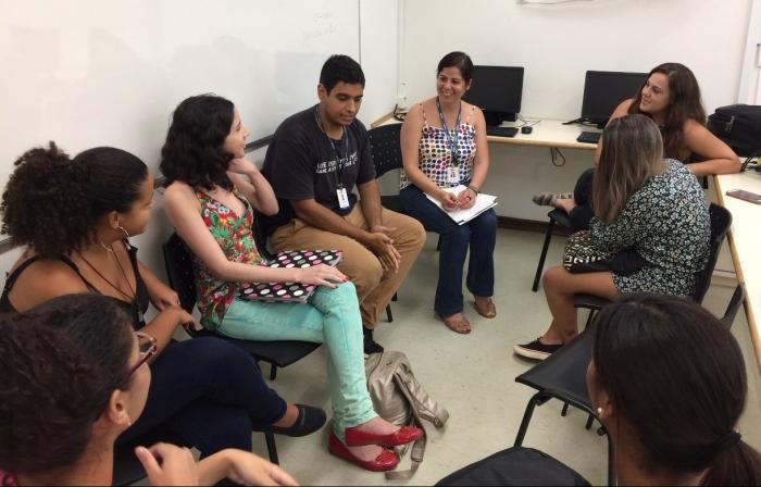 Toda semana acontece a reunião de pauta na redação. Foto: Diego Pedroso / TV UVA Notícias
