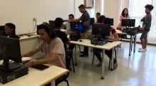 Redação experimental no Campus Tijuca. Foto: Patrícia Sá Rêgo / AgênciaUVA