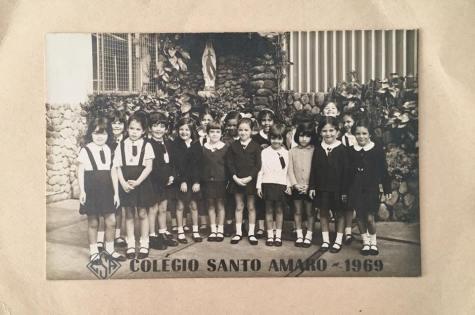 Foto de turma em 1969 (Acervo pessoal: Ana Barreira)