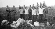 Guerrilheiros rendidos no Araguaia. Foto: Divulgação