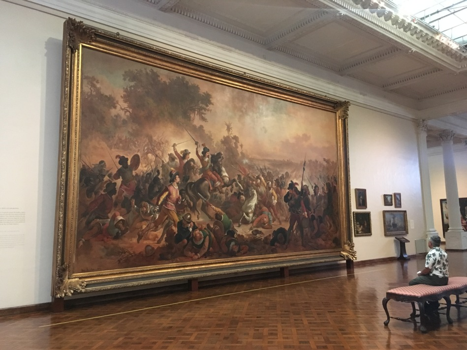 A famosa tela Batalha dos Guararapes. Foto: Felippe Naus