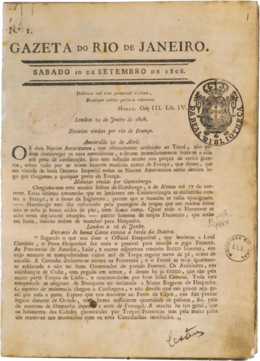 Primeiro número do jornal da colônia. Foto: Arquivo Biblioteca Nacional