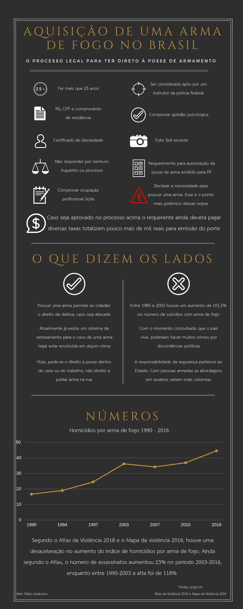 Aquisição de uma arma de fogo no Brasil