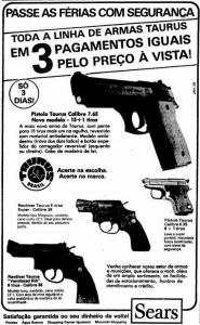 armas sears passe férias com segurança 1985
