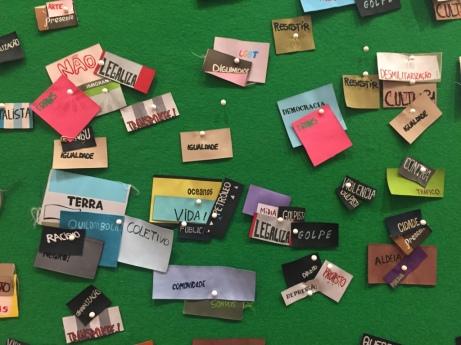 """Repente"", obra interativa de Rivane Neuenschwander Foto: Camilla Castilho/Agência UVA"