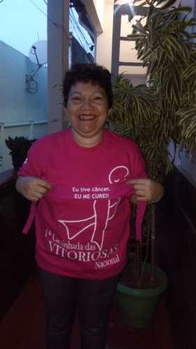Dona Rosana após o primeiro câncer. / Foto: Arquivo pessoal